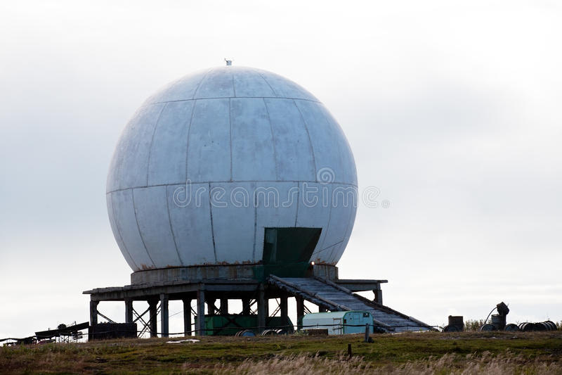 Download Big antenna white sphere stock photo. Image of probe - 27093704