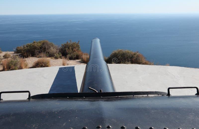 Download Big anti-ship gun stock image. Image of artillery, military - 25056729