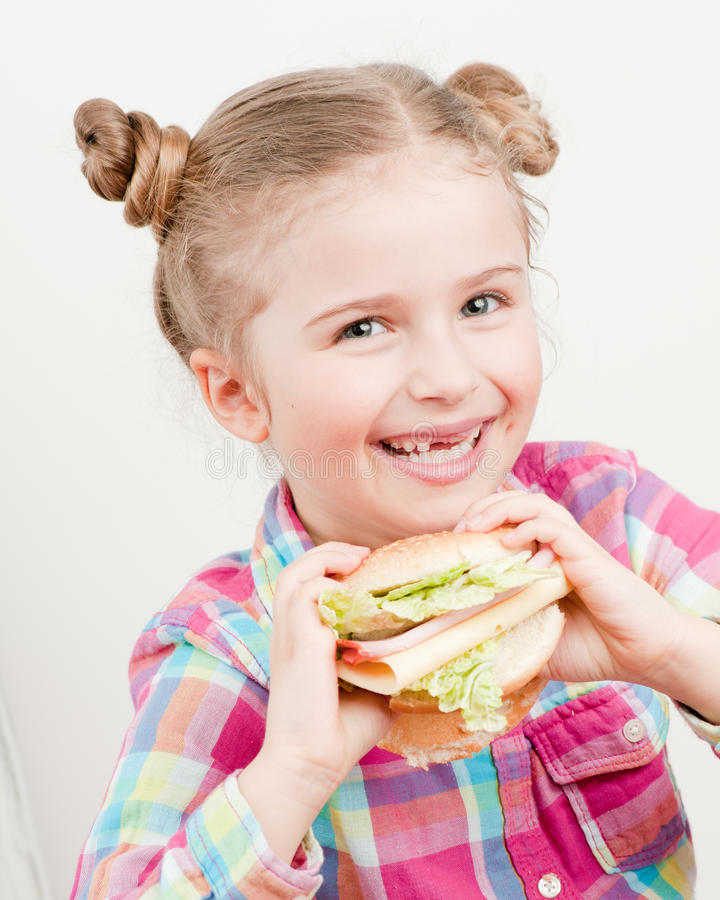 Download Big appetite stock photo. Image of beautiful, cute, lunch - 18420590