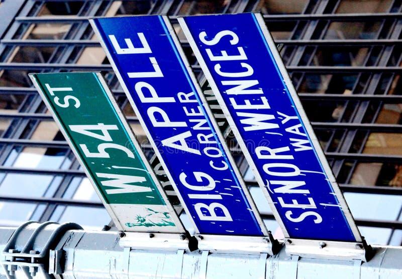 Big Apple corner, New York royalty free stock images