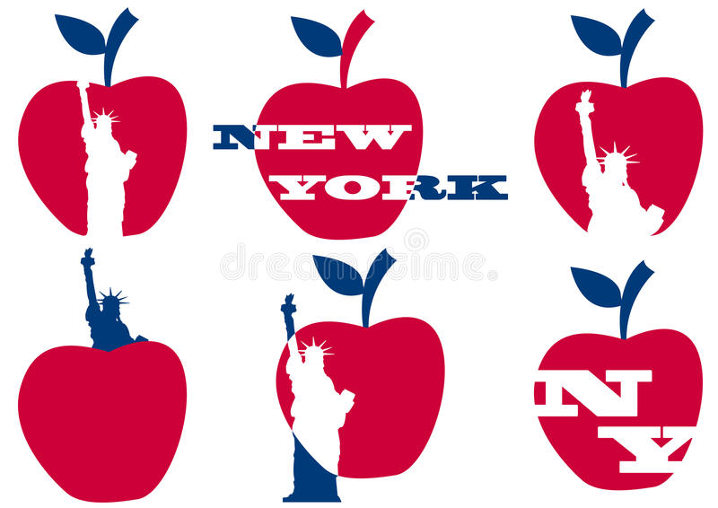 Download Big Apple Statue Of Liberty Stock Vector - Image: 24903199