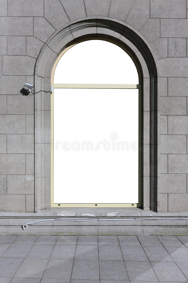 Big arch window royalty free stock photography