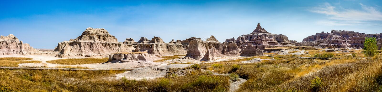 Big Badlands Overlook royalty free stock images