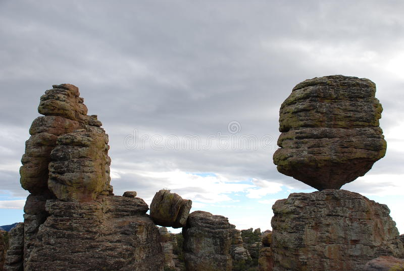 Big Balanced Rock in Chiricahua Mountains stock photos