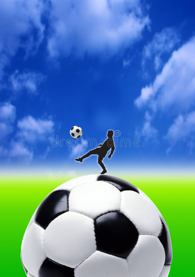 Big ball kick stock images