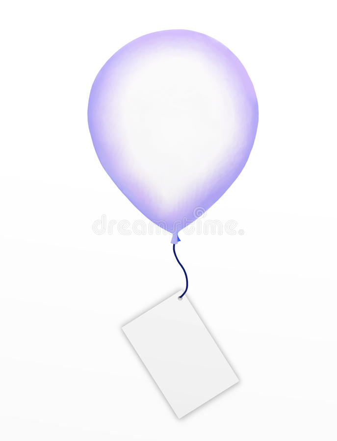 Download Big Balloon With A Blank Tag Or Empty Business Car Royalty Free Stock Image - Image: 26963996