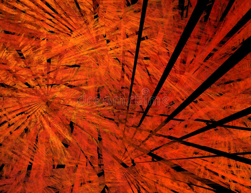 Download Big Bang. Black Rays In Flame Stock Illustration - Image: 12131717