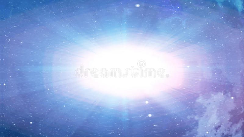 Big Bang with bright plasma in the blue background royalty free illustration