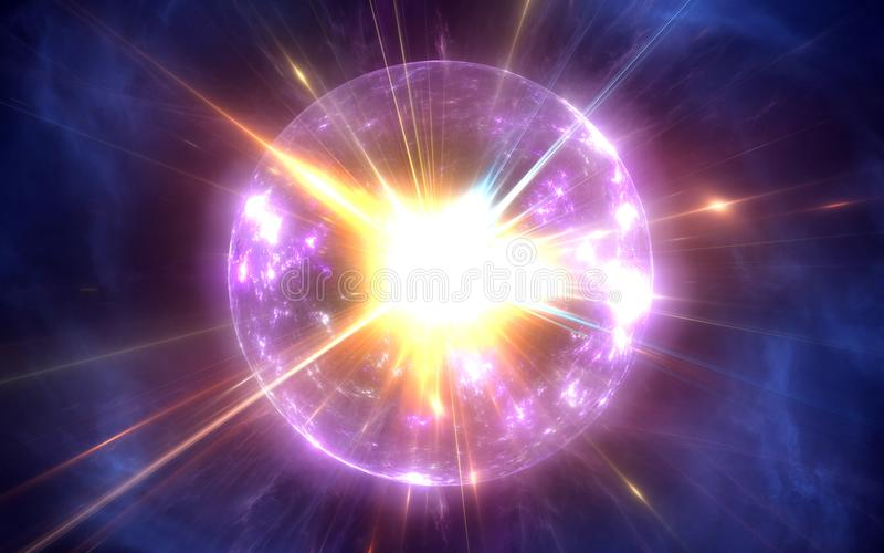 Big Bang and the Expansion of the Universe. 3D illustration stock illustration