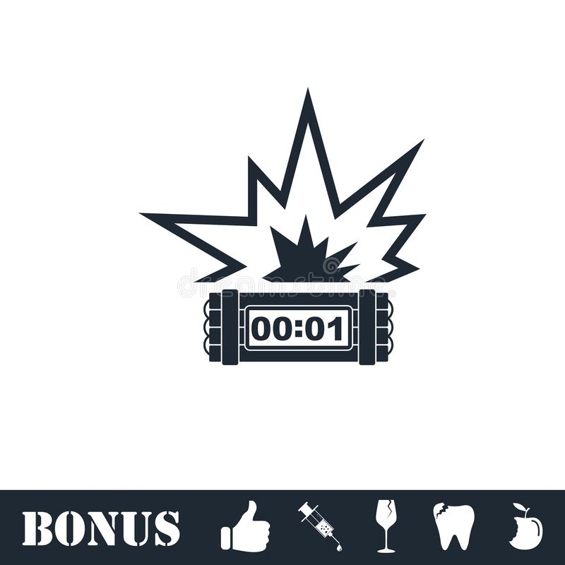 Big Bang Flash icon flat royalty free illustration