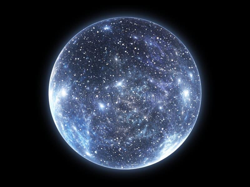 Big Bang och utvidgningen av universumet stock illustrationer