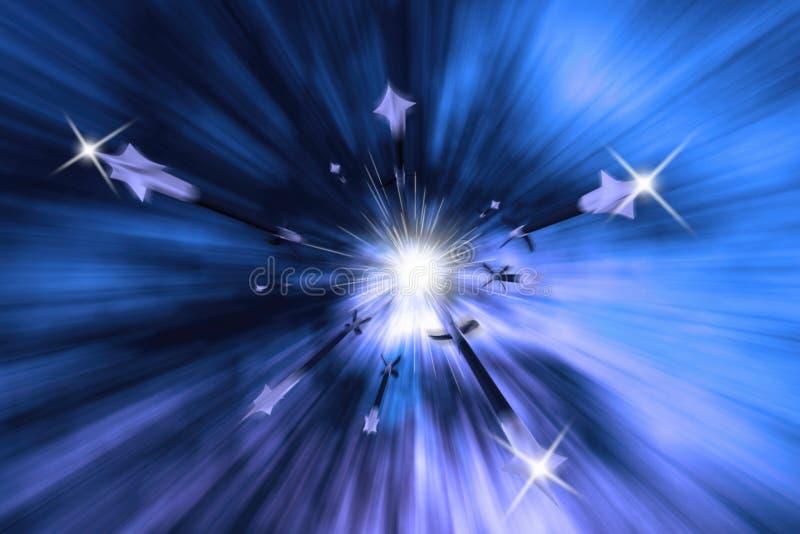 Big Bang Burst Of Rapid Arrows Illustration royalty free stock image