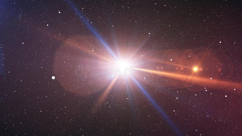 Big Bang si infiamma con il plazma che sembra i raggi luminosi royalty illustrazione gratis