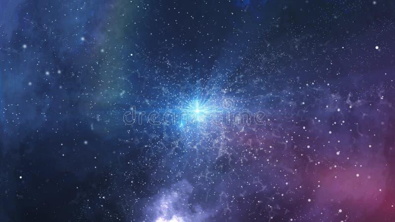 Big Bang sinistro di miliardi dell'universo gli anni fa illustrazione di stock