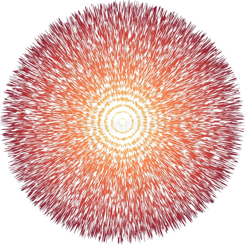 Big Bang teoribegrepp vektor illustrationer