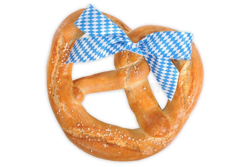 Big Bavarian Oktoberfest soft pretzel stock image