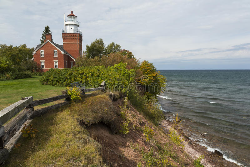Big Bay Point Lighthouse stock images