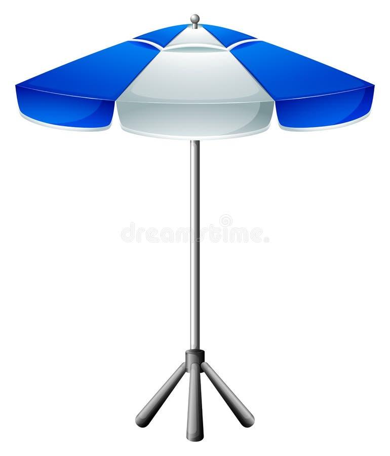 A big beach umbrella vector illustration