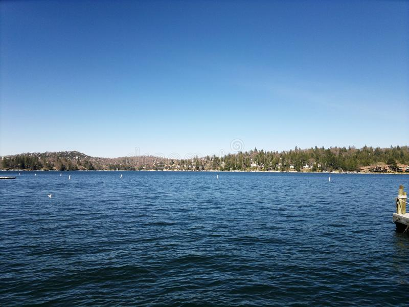 Big Bear湖 库存图片