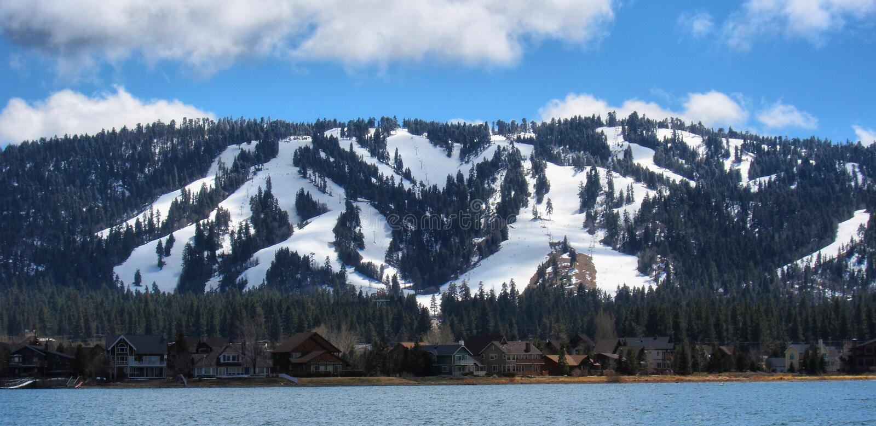 Big bear湖 库存照片