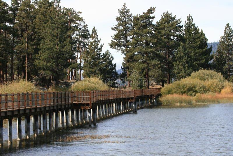 Big Bear Lake in California stock images