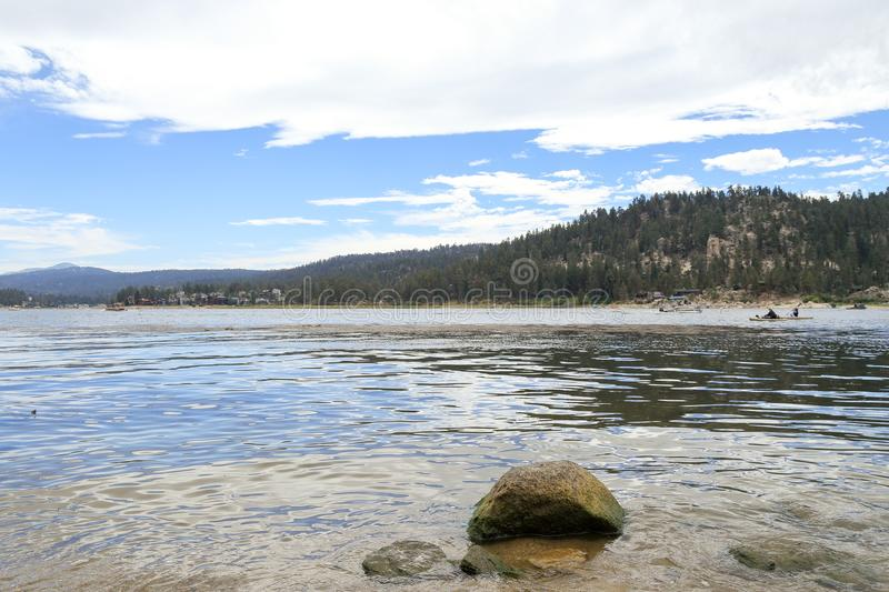 Big Bear lake. Early morning at Big Bear Lake, Big bear California stock photo