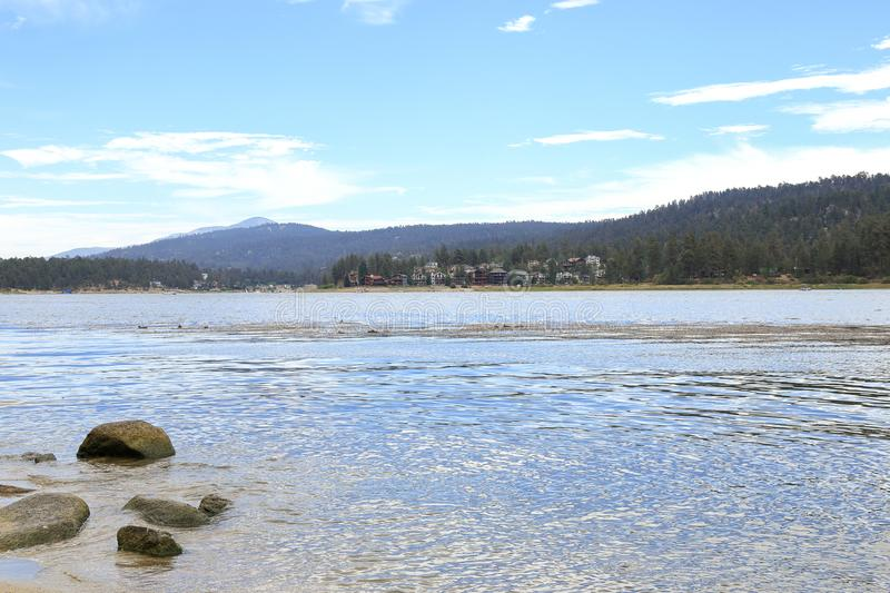 Big Bear lake. Early morning at Big Bear Lake, Big bear California royalty free stock photo