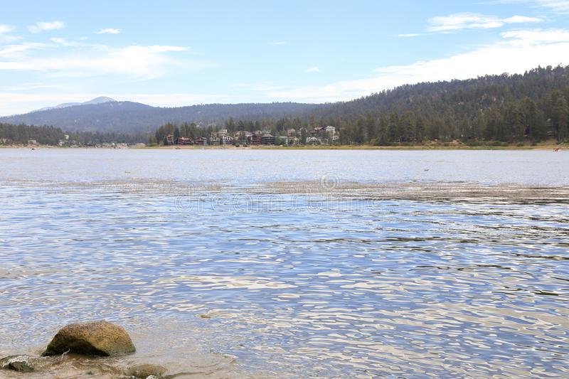 Big Bear lake. Early morning at Big Bear Lake, Big bear California stock photos