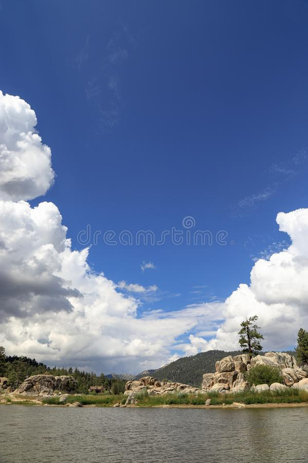 Big Bear lake. Fun afternoon at Boulder Bay park, Big Bear Lake California stock photo