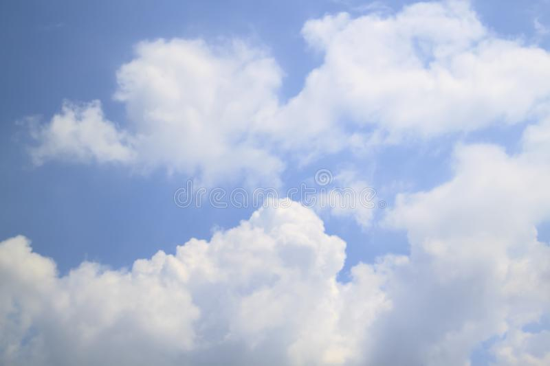 Big beautiful cloud on blue sky background royalty free stock photography