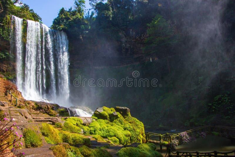 Big beautiful waterfall. In the park Dambri, Vietnam stock photo