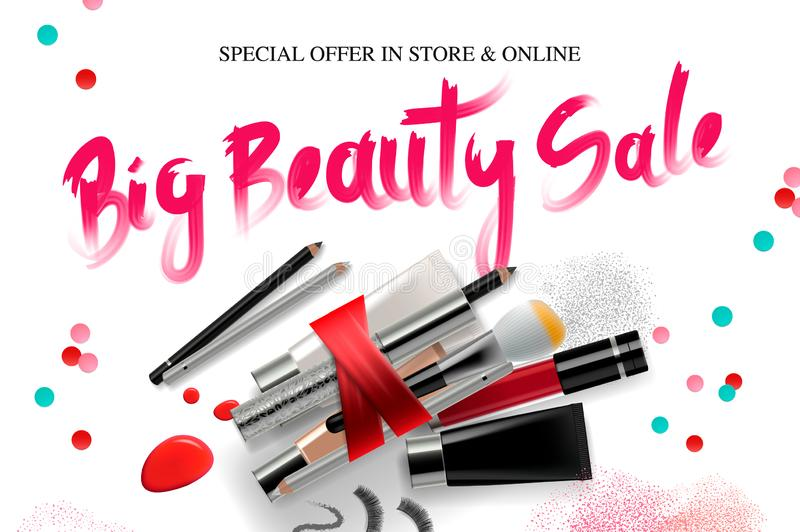 Makeup Banner Template For Online Beauty Store  Poster Design With