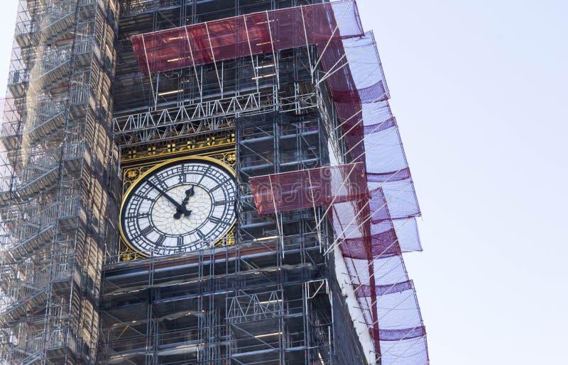 Big Ben κάτω από την ανακαίνιση στοκ φωτογραφίες με δικαίωμα ελεύθερης χρήσης
