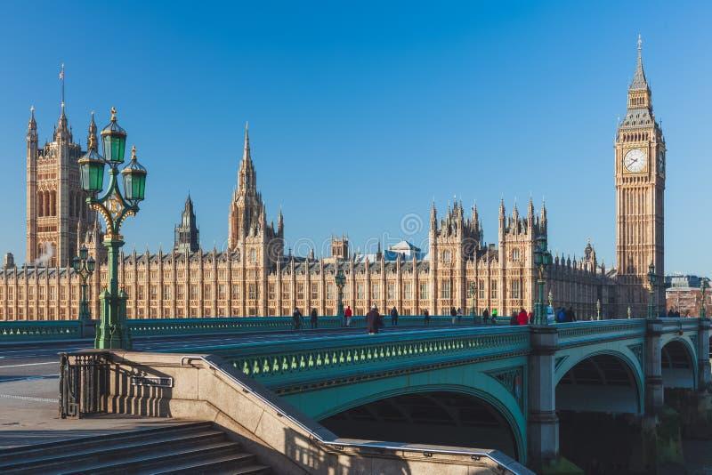 Big Ben και σπίτια του Κοινοβουλίου, Λονδίνο, UK στοκ φωτογραφίες με δικαίωμα ελεύθερης χρήσης