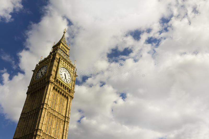 Big Ben. In the summer with copy space stock image