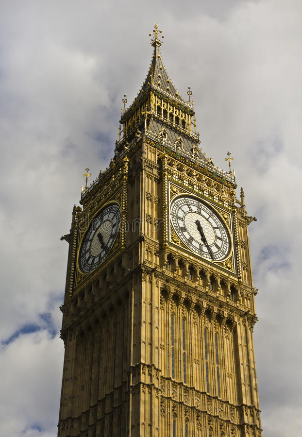 Big Ben. Against cloudy sky royalty free stock images