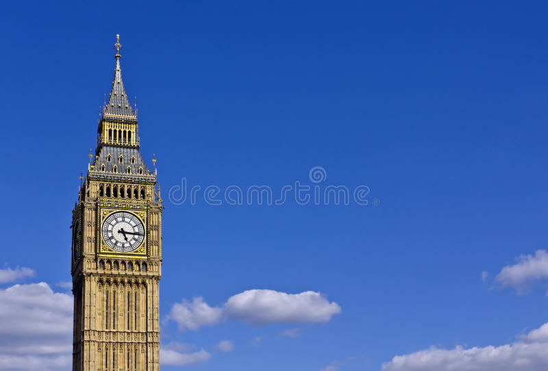 Big Ben. In the summer with copy space stock images