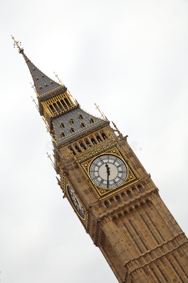 Big Ben. Clock tower in London stock images