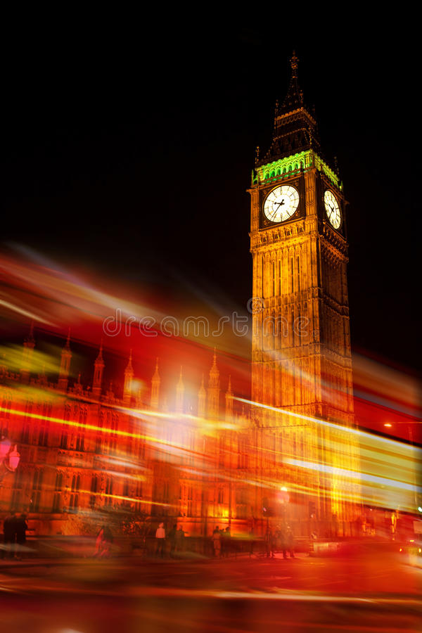 Download The Big Ben stock photo. Image of night, time, icon, traffic - 19944820