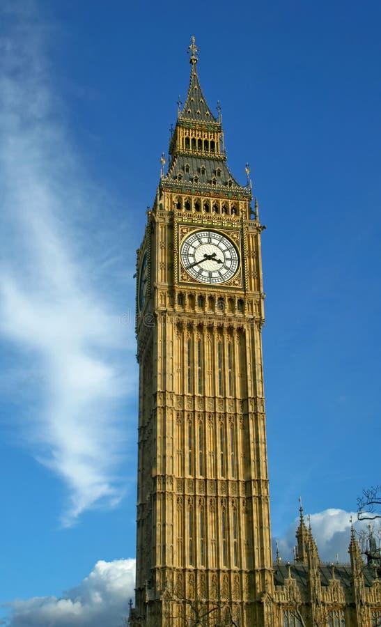 Big Ben. Whole view of clock tower Big Ben stock image