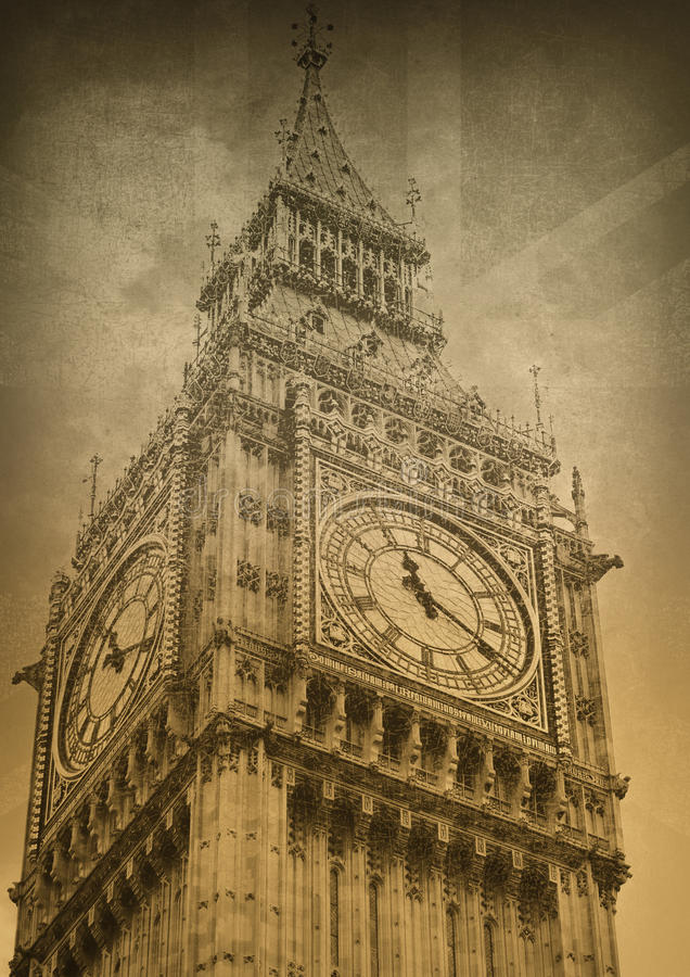 Download Big ben. stock illustration. Image of aged, vintage, rusty - 25969161