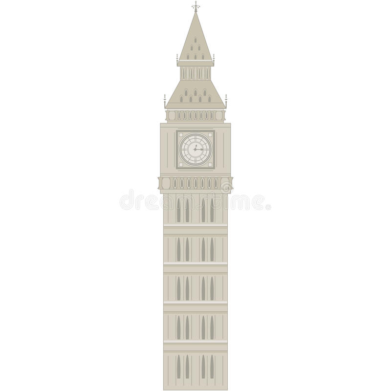 Download Big Ben stock vector. Image of famous, building, gothic - 28929763