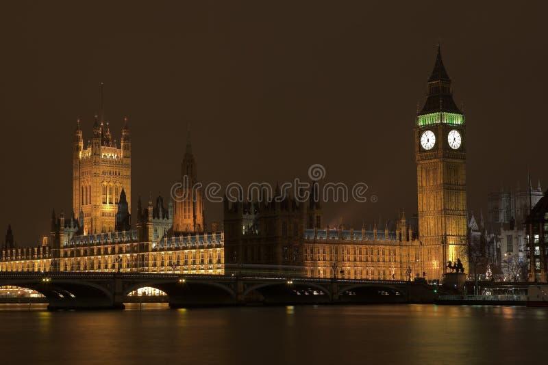 Big Ben #3. Big Ben at night across the Thames river royalty free stock photography