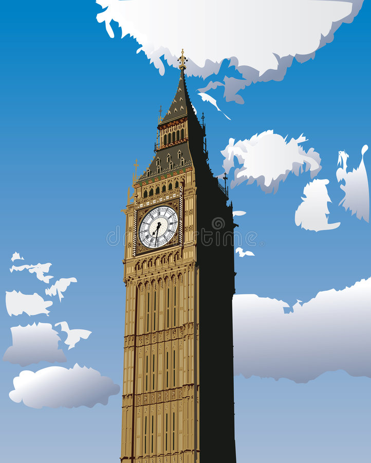 Download Big Ben stock vector. Image of famous, isolated, government - 9011985