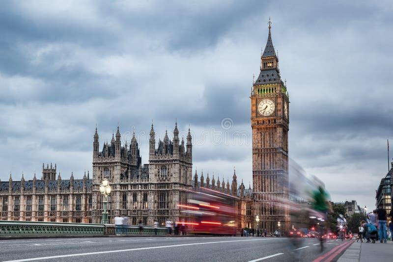 Big Ben am Abend, London, Vereinigtes Königreich stockfotos