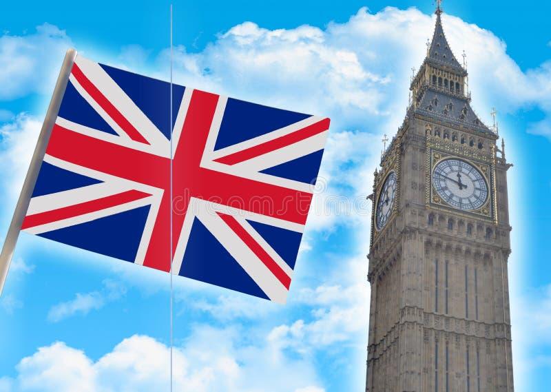Big Ben-Abschluss oben gegen lizenzfreies stockbild
