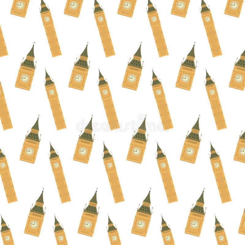 Big Ben architektury basztowy tło royalty ilustracja