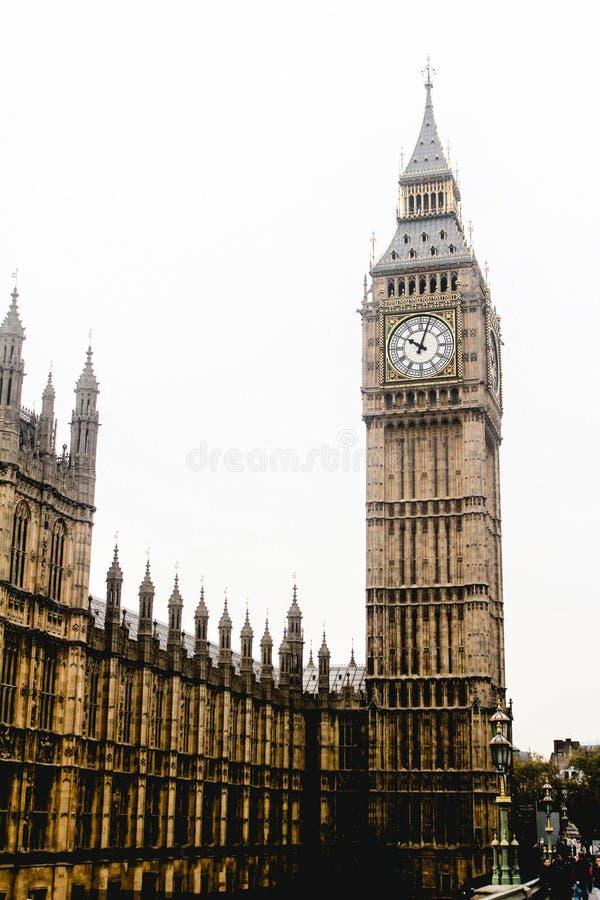Big Ben, Brücke Londons Westminster, Westminster Abbey, Palast von Westminster lizenzfreie stockfotos