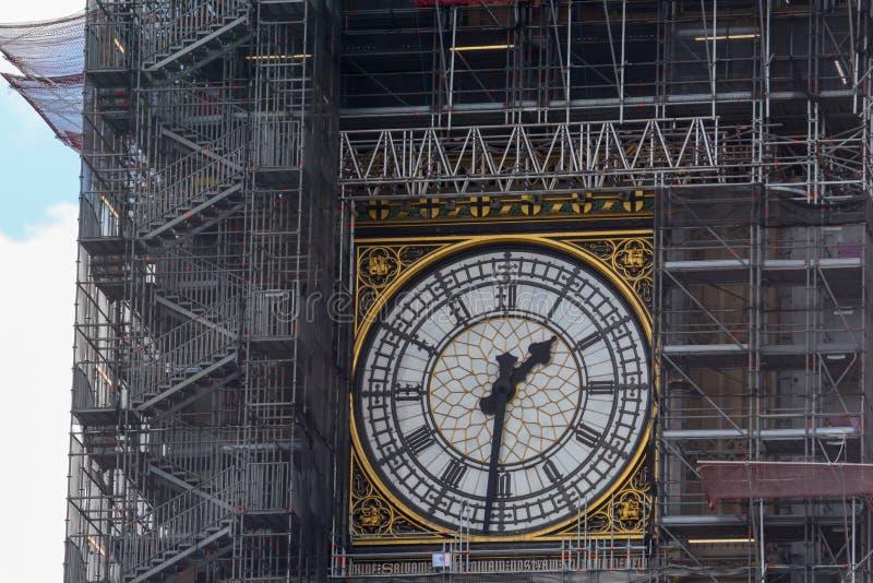 Big Ben clock tower in London royalty free stock photo