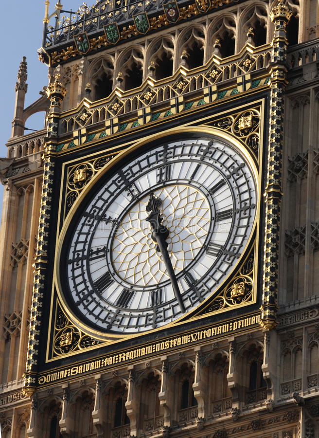 Download Big Ben Clock Face stock image. Image of carvings, metal - 20712721